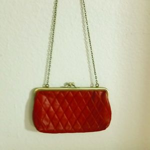 NINE WEST Clutch RED/Gold